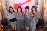 9日深夜放送『ギュッとミュージック』に出演するモーニング娘。'20(左から)小田さくら、森戸知沙希、横山玲奈、石田亜佑美(C)カンテレ