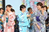 『ようこそ!!ワンガン夏祭り THE ODAIBA 2018』制作発表に出席した(左から)山崎夕貴、竹内友佳、三田友梨佳 (C)ORICON NewS inc.
