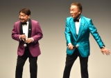 息のあったタップダンスを披露するおぼん・こぼん=お笑いライブ『タイタンライブ』2月公演 (C)ORICON NewS inc.