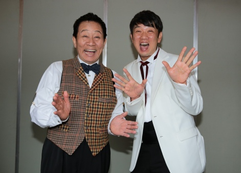『スカーレット』トークショーに参加したオール阪神(左)とTKO・木本武宏