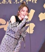 スペシャルライブを開催した安田レイ=『10月9日「仙台牛の日」』の記者発表会 (C)ORICON NewS inc.