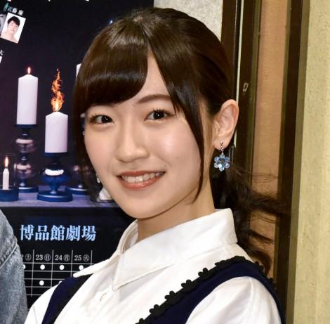 舞台『バレンタイン・ブルー』公演初日前の囲み取材に出席した前島亜美 (C)ORICON NewS inc.