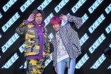 EXITプロデュースブランド「EXIEEE」デビュー記者発表の様子