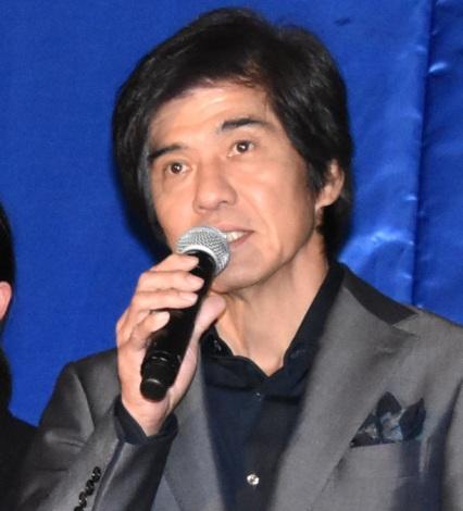 映画『Fukushima 50』黒板アートお披露目イベントに出席した佐藤浩市
