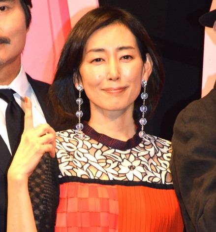 映画『一度死んでみた』(3月20日公開)完成披露ミサに登壇した木村多江 (C)ORICON NewS inc.
