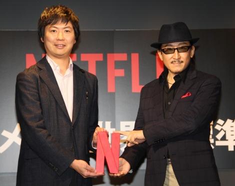 Netflixとパートナーシップを結んだクリエイター(左から)櫻井大樹氏、樹林伸氏 (C)ORICON NewS inc.