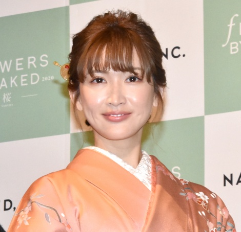 体感型アート展『FLOWERS BY NAKED 2020-桜-』オープニングセレモニーに出席した紗栄子 (C)ORICON NewS inc.