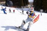 ゲレンデで滑走中の生ガンダムさん 写真提供:生ガンダムさん
