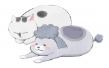 アニメ「犬と猫どっちも飼ってると毎日たのしい」のイラスト (C)松本ひで吉・講談社/犬と猫製作委員会