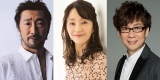 『攻殻機動隊SAC2045』キャスト写真(左から)大塚明夫、田中敦子、山寺宏一
