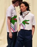ラコステの服を着て追悼する動き(画像は新商品のポロシャツとTシャツ)