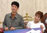 AbemaTVの新番組『さよならプロポーズ シーズン2』の合同取材に参加した(左から)小籔千豊、辻希美 (C)ORICON NewS inc.