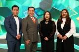 新番組『やすとものいたって真剣です』(4月2日スタート)海原やすよ ともこと初回ゲストのミルクボーイ(C)ABCテレビ