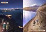 『ゆるキャン△ SEASON2』2021年1月放送開始。ティザービジュアル(左から)「夜」「朝」(C)あfろ・芳文社/野外活動委員会
