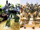 (左)作品名:「buddy」/制作:ピロセピロシ(右)作品名:ランバ・ラル隊とその支援部隊/制作:スギモトカステン(C)創通・サンライズ