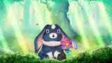 新コーナー「ヒカリの森の黒うさぎ」=0〜2歳の赤ちゃん向け番組『シナぷしゅ』4月6日のレギュラー放送スタート(C)テレビ東京