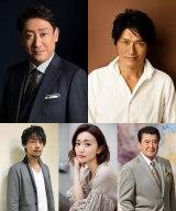 スペシャル時代劇『十三人の刺客』制作開始。NHK・BSプレミアムで8月22日放送予定。出演者(上弾左から)中村芝翫、高橋克典(下段左から)福士誠治、大島優子、里見浩太朗