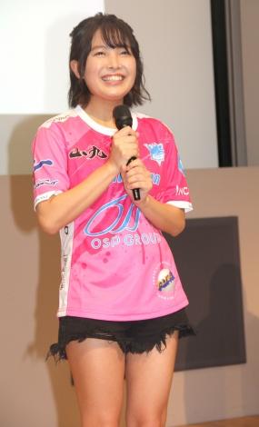 『東京山九フェニックス ネーミングライツスポンサー発表』イベントに登場した寺本莉緒