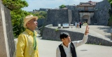 特別展『おーきなうた この島にあなたと響かせよう展』で対談したゴリと前川真悟