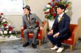 『第55回上方漫才大賞』の大賞に選ばれたシャンプーハット(左から)こいで、てつじ(C)カンテレ