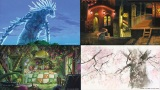 スタジオジブリ公式サイトでWEB会議などで使える「スタジオジブリ壁紙」全8種類提供中(上段左から)『もののけ姫』『千と千尋の神隠し』(下段左から)『借りぐらしのアリエッティ』『かぐや姫の物語』