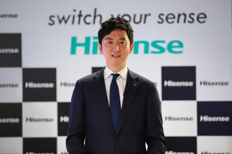 『ハイセンスジャパン新ビジョン・新商品発表会』に出席した小林英治氏