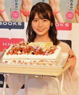 モッツァレラチーズを使用したサプライズケーキに感激した井口綾子 (C)ORICON NewS inc.