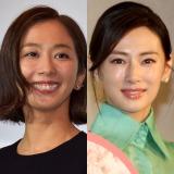 (左から)第1子が誕生した優香、妊娠報告した北川景子 (C)ORICON NewS inc.