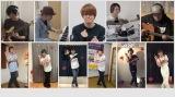 宮野真守(上段中央)が自宅リビングで歌唱した「LIFE」動画公開