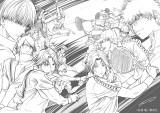 許斐剛氏が描き下ろした『新テニスの王子様 氷帝 vs 立海 Game of Future』のイラスト