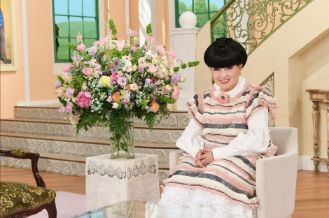 『徹子の部屋』いつものたまねぎヘアの黒柳徹子(C)テレビ朝日
