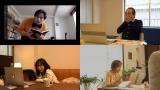 テレワークドラマ『今だから、新作ドラマ作ってみました』(左の2枚)第1夜に出演した満島真之介と前田亜季、(右の2枚)第2夜に出演した小日向文世と竹下景子(C)NHK
