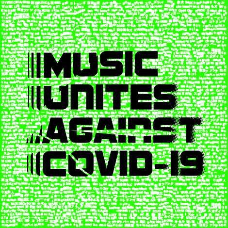 『MUSIC UNITES AGAINST COVID-19』ロゴ