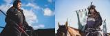 大河ドラマ『麒麟がくる』第17回「長良川の対決」(5月10日放送)(左から)斎藤道三(本木雅弘)と斎藤高政(伊藤英明)がついに激突(C)NHK