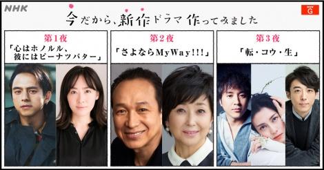 テレワークドラマ『今だから、新作ドラマ作ってみました』再放送決定(C)NHK