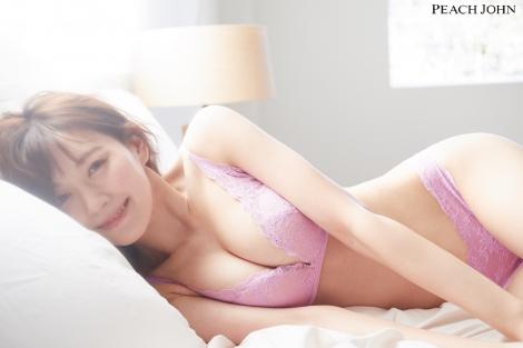 PEACH JOHNのコンテンツ『ゆるふわ美胸JOURNAL』に登場した渡辺美優紀