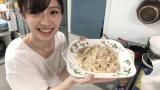 おうち時間で料理デビューしたAKB48の武藤十夢が自宅キッチンで「ベーコンたっぷりカルボナーラ」を完成(C)AKB48