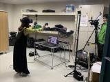 モーションキャプチャー中の日岡さん=5月17日放送、NHK・BS1『COOL JAPAN〜発掘!かっこいいニッポン〜』(C)NHK