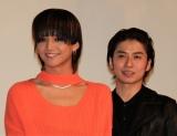 仮面ライダーコンビで主演映画イベント盛り上げた(左から)三浦涼介、武田航平 (C)ORICON NewS inc.