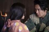 大河ドラマ『麒麟がくる』第19回「信長を暗殺せよ」より。熙子(木村文乃)から「ややこできた」と聞き、喜ぶ光秀(長谷川博己)(C)NHK