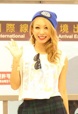 『a-nation taiwan』出演のため台湾入りした倖田來未 (C)oricon ME inc.