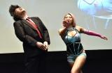 ブシロードの木谷高明取締役(左)に強烈なビンタをお見舞いした木村花=スマホゲームアプリ『ロストディケイド』発表会(C)ORICON NewS inc.