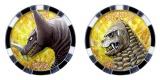 カブラギ シンヤ(野田理人)の怪獣メダル(ゴモラ、レッドキング)=テレビ東京系『ウルトラマンZ』(6月20日スタート)(C)円谷プロ (C)ウルトラマンZ製作委員会・テレビ東京