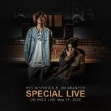 赤西仁(左)と錦戸亮が5月29日に「Bigo Live」でスペシャルライブ