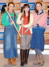 NHK BSプレミアム新番組『晴れ、ときどきファーム!』に出演するMAX(左からLina、Mina、Nana) (C)ORICON DD inc.