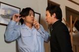 連続テレビ小説『エール』第8週・第36回より。古山家に、早稲田大学応援部の団長(三浦貴大)たちが押しかけてくる(C)NHK