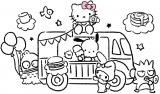 『SANRIO CAFE池袋店』キャラクター集合カフェワゴン
