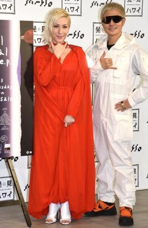 新曲「EKTO(エクト)」のミュージックビデオ発表会に参加したm-flo(左から)LISA、VERBAL (C)ORICON NewS inc.