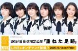 6月14日から劇場公演を配信限定で再開させるSKE48