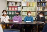 パワハラで提訴した(左から)鄭優希さん、浅野百衣さん、錦織可南子さん、清水正誉さん (C)ORICON NewS inc.